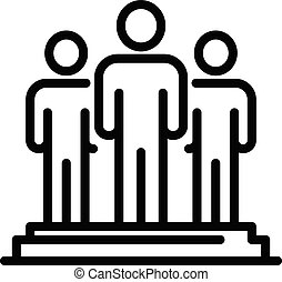 Education staff icon, outline style - Education staff icon....