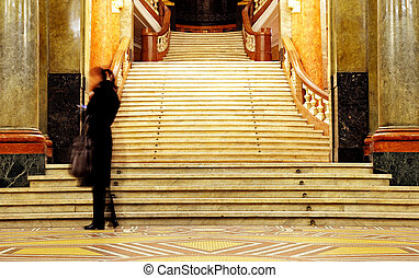 education stairs university - old stairs in Sofia university...