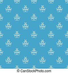 Education stationery pattern vector seamless blue