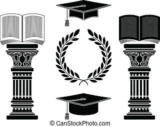education. stencil. fifth variant