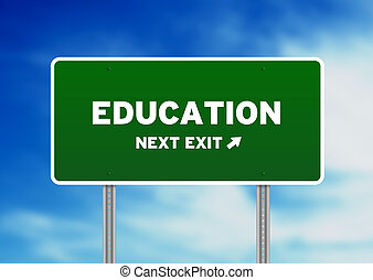 Education Street Sign - High resolution graphic of a...