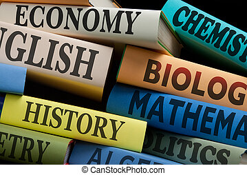 education study books and apple - education study books with...