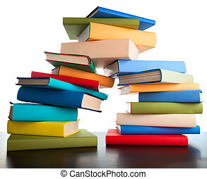 education study books stack books
