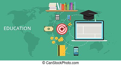 education stuff and preparation vector flat illustration