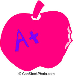 education symbol with apple