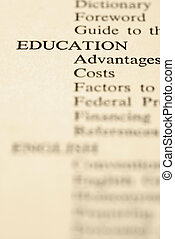 Education table of contents.