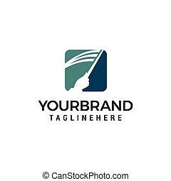 education Teacher logo design concept template vector