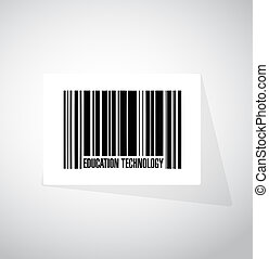 education technology barcode sign concept