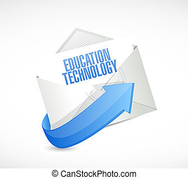 education technology mail sign concept