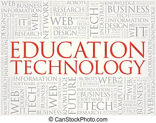 Education Technology word cloud,  concept