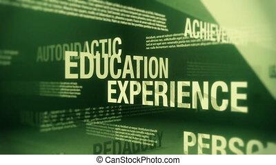 education, termes, apparenté, boucle