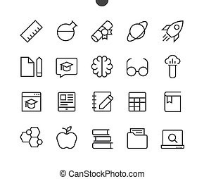Education UI Pixel Perfect Well-crafted Vector Thin Line...