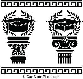 education., variant, stencil., vierde