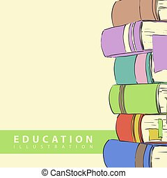 Education vector background