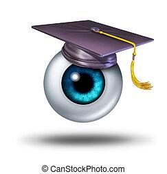 Education Vision - Education vision concept as a human eye...