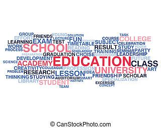 Education. Word cloud concept
