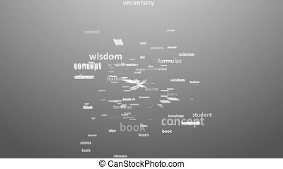EDUCATION. Word collage on white ba