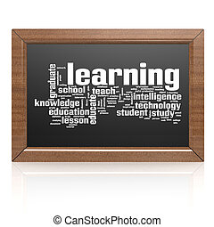 Education word on blackboard