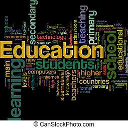 Education wordcloud - Illustration of Wordcloud representing...