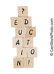 Education Written With Wooden Blocks.