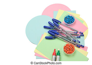 Educational accessories isolated
