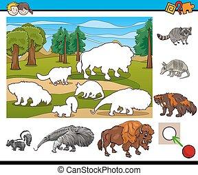 educational activity for children - Cartoon Illustration of...