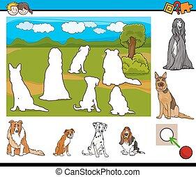 educational activity for kids - Cartoon Illustration of...