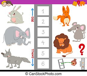 educational activity with large and small animals