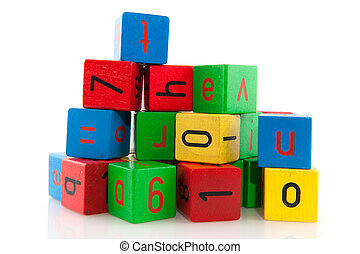 Educational blocks - multicolor educational blocks with...