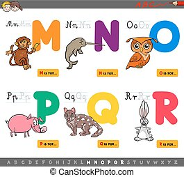 educational cartoon alphabet letters for children - Cartoon...