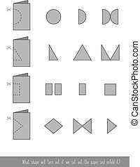 Cut out the paper - Educational children game. Cut out the ...