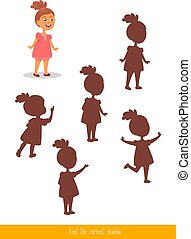 Find the correct shadow - Educational children game. Logic...