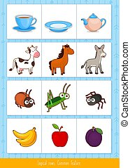 Logical rows for kids.