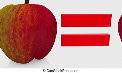Educational concept with apples