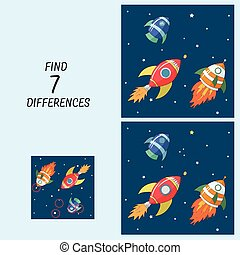 Educational game for children find the differences