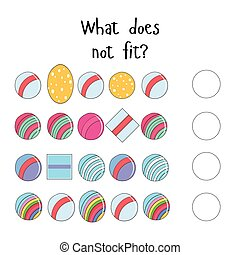 Educational game for children what does not fit