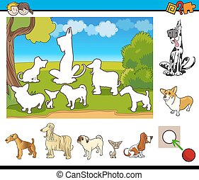 educational game for kids - Cartoon Illustration of...