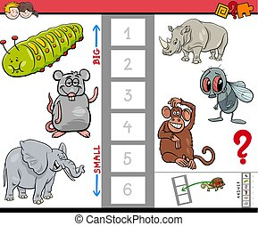 educational game for kids with large and small animals