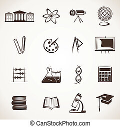 educational icon stock vector