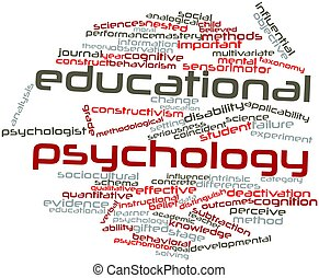 Educational psychology - Abstract word cloud for Educational...