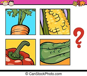 educational puzzle task for childre - Cartoon Illustration...