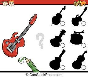 educational shadows task cartoon - Cartoon Illustration of...