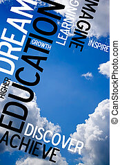 Educational Sky Montage - An educational montage with text...