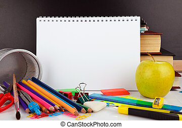 educational supplies - Notebook with school stationary ...