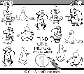 educational task coloring book - Black and White Cartoon...