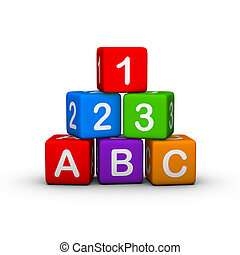 Toy Blocks - Educational Toy Blocks with letters and numbers