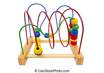 Educational toy isolated on the white background