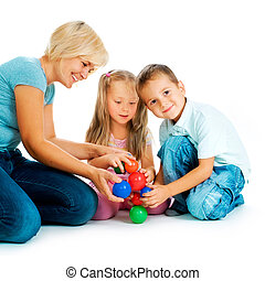 educativo, bambini, floor., bambini, giochi, gioco