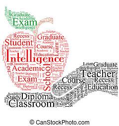 educativo, font, disegno