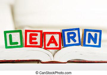 educativo, lettura, concetto